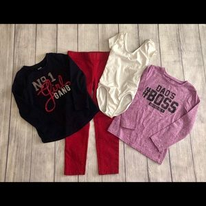 Bundle of 4 Little Girl's items size 5/6 and 6
